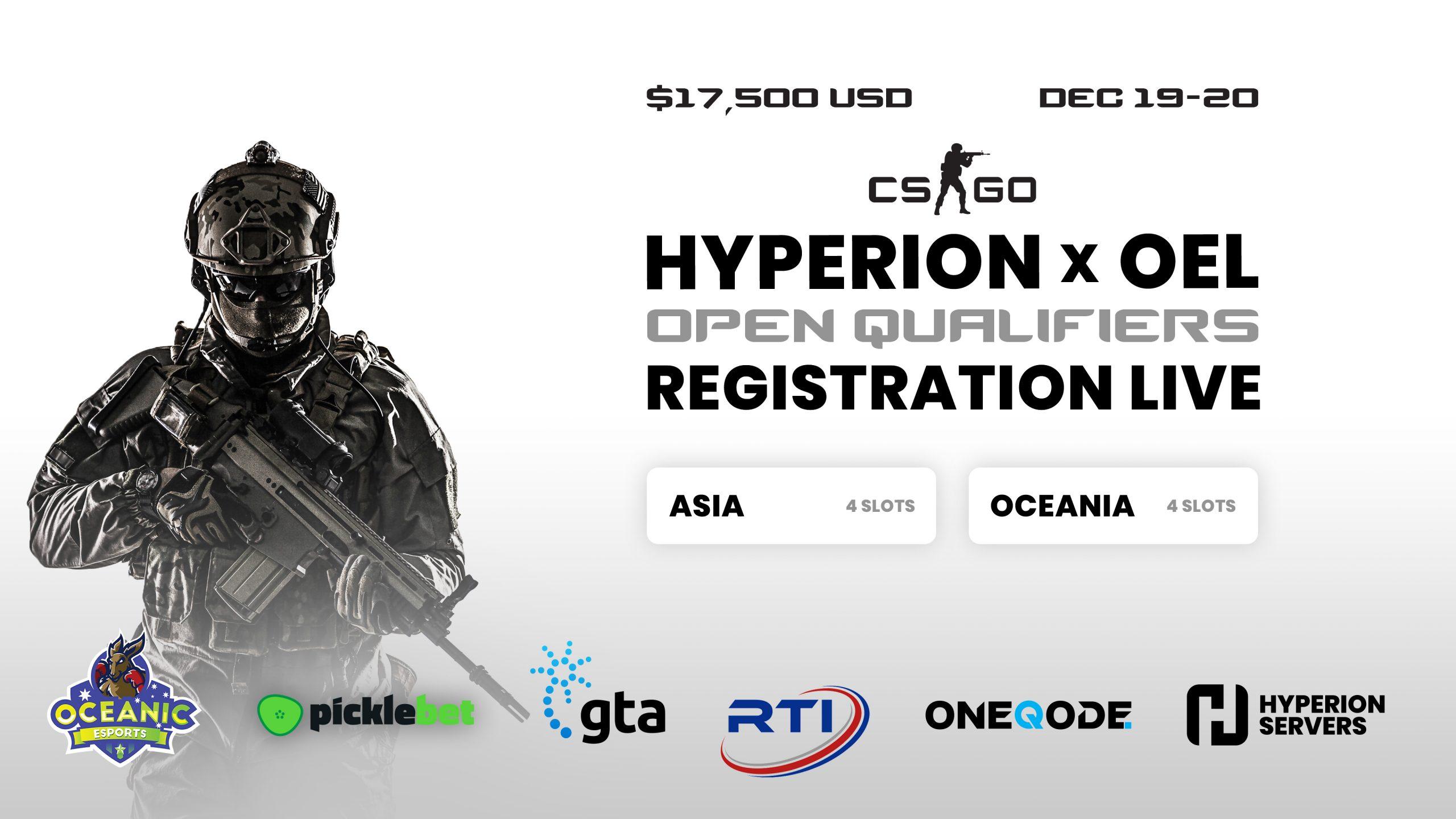 Hyperion x OEL Inter-Regional CS:GO Launch Open Qualifier – Announcement Presser