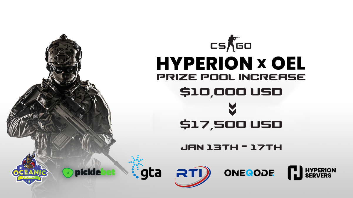 Hyperion Servers & Oceanic Esports League Announce APAC Counter-Strike: Global Offensive Tournament