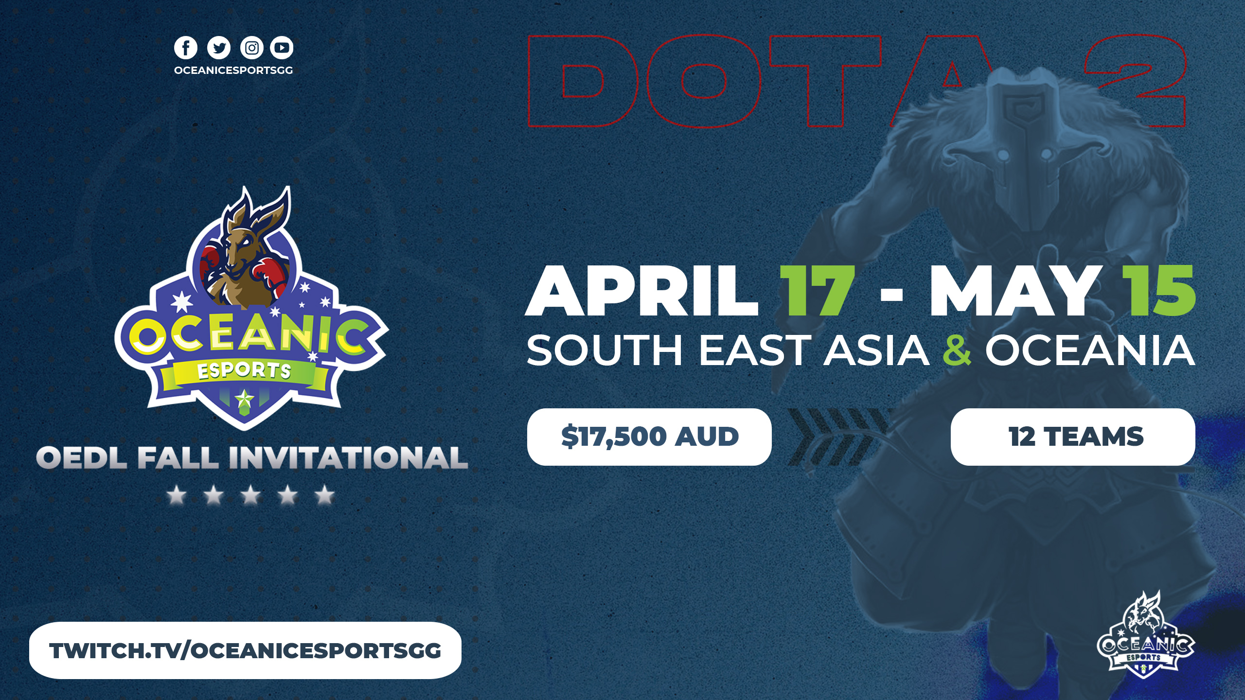 Oceanic Esports League Announces OEDL Fall Invitational