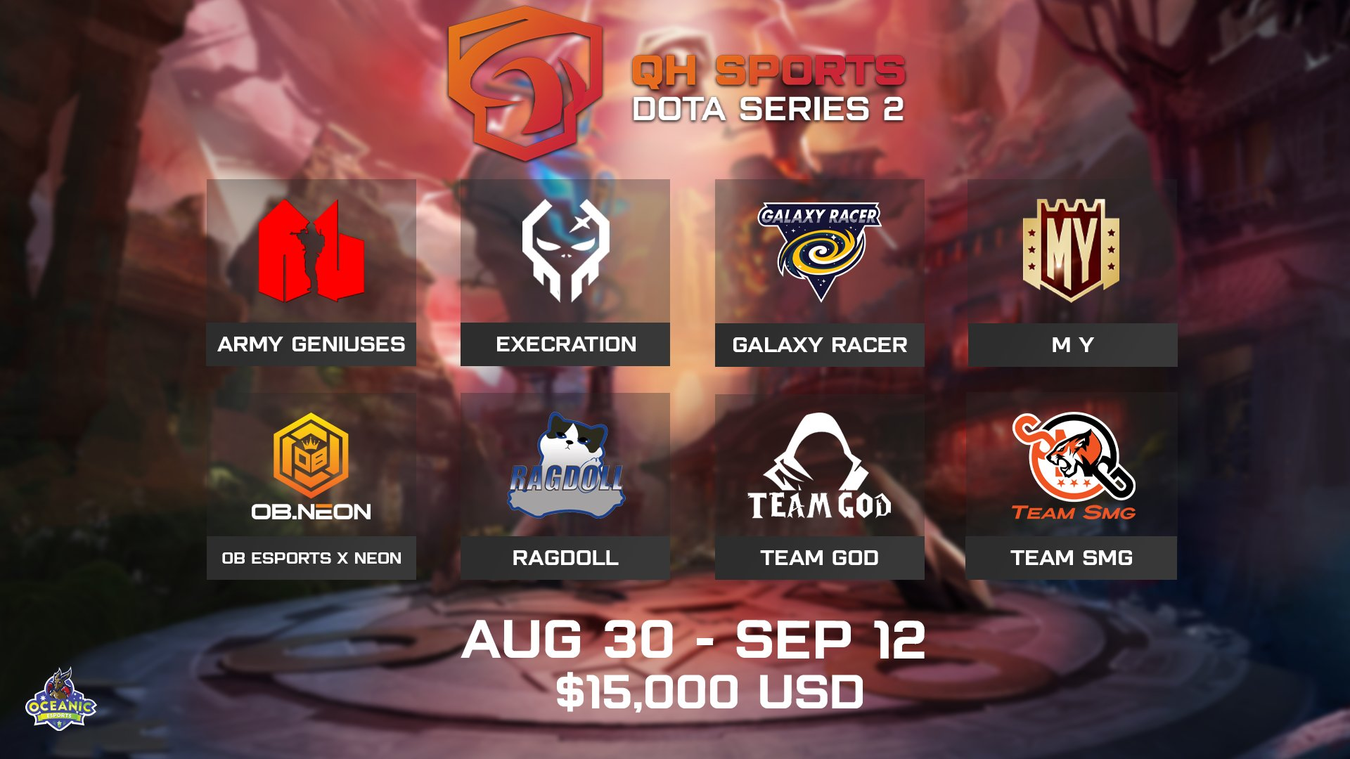 The QH Sports Dota Series Continues With 8 of SEA's Strongest Teams